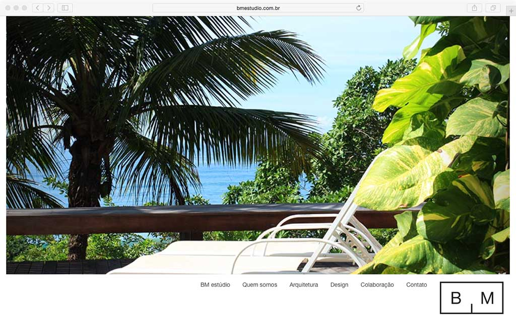 cadigital design site bm estudio