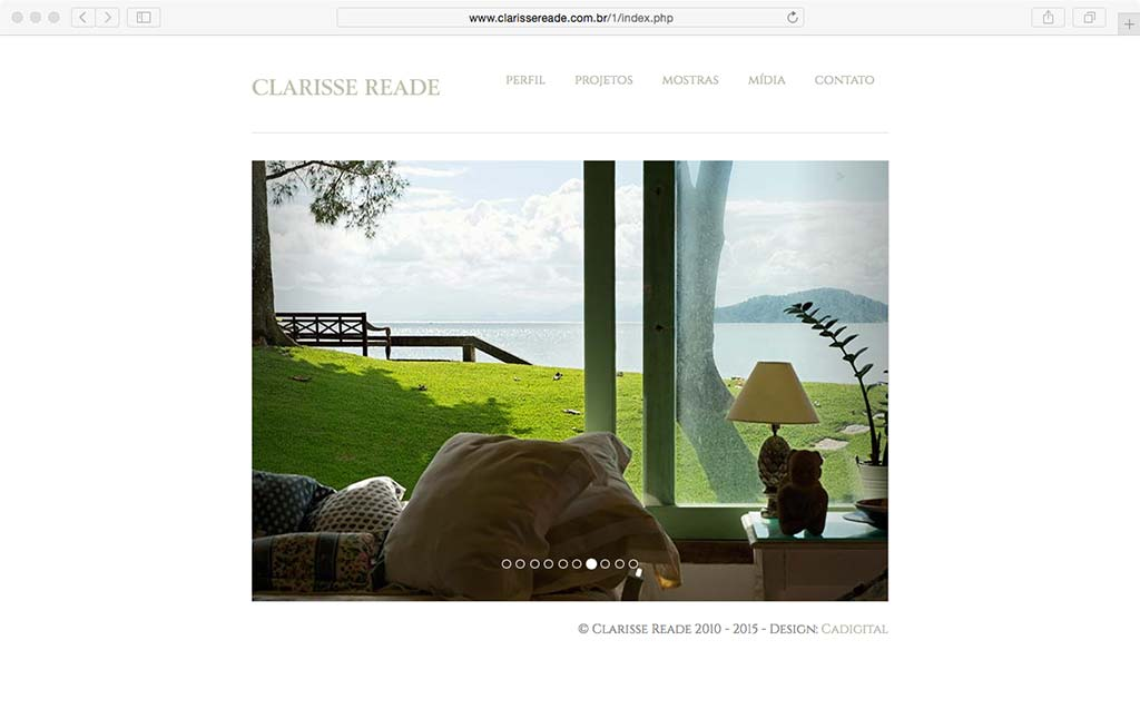 cadigital web design clarisse reade site