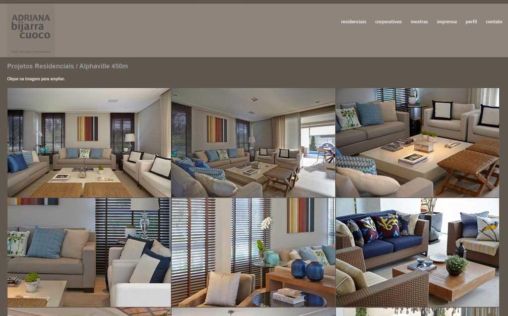 user interface design para site adriana cuocco by cadigital