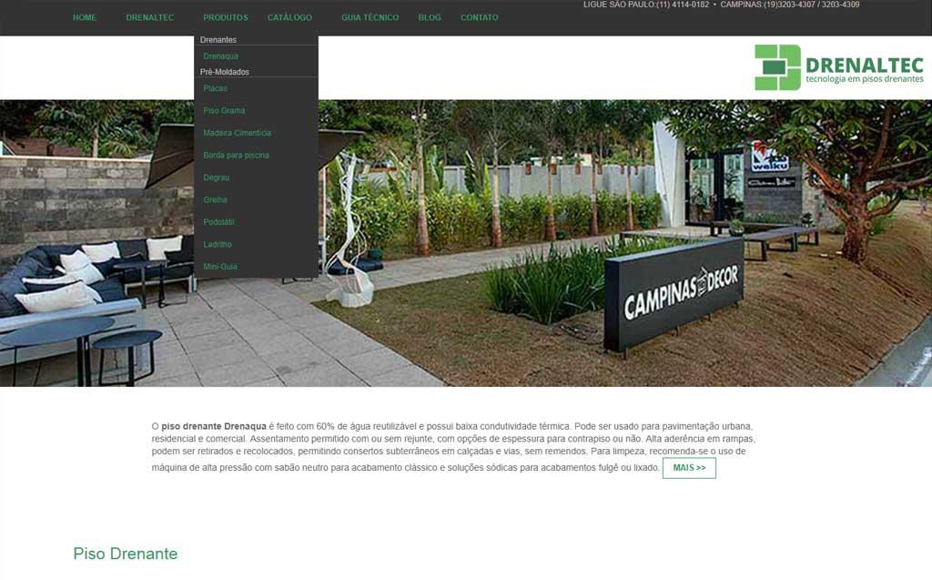 site drenaltec tecnologia em pisos drenantes criado e desenvolvido pela cadigital