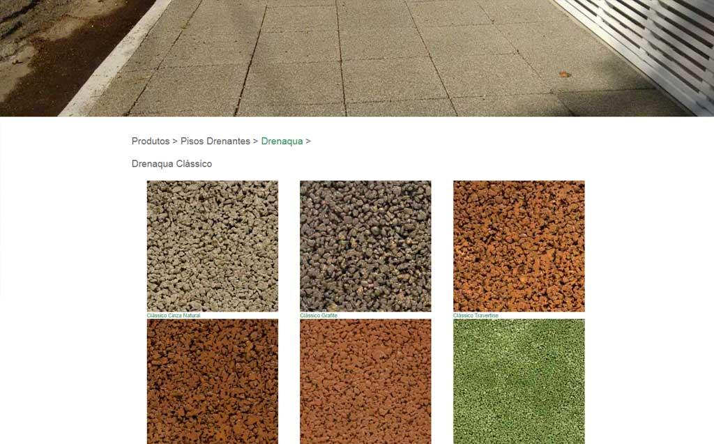 pagina de piso drenante fotos e site cadigital