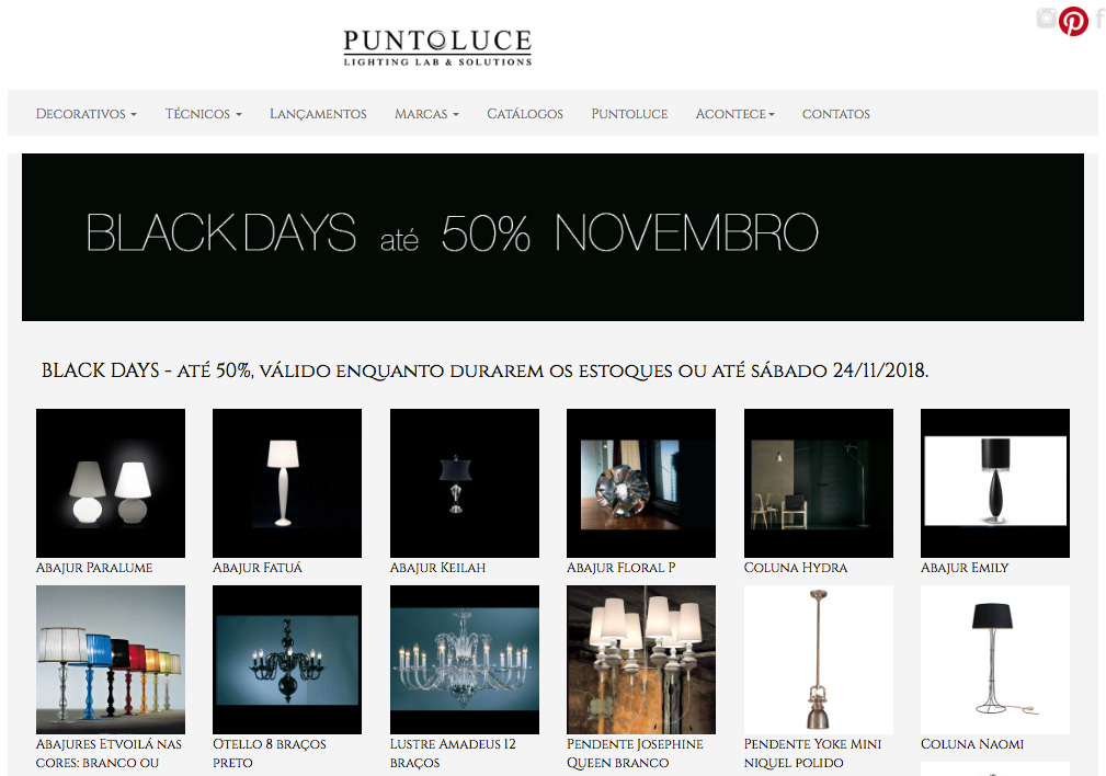 arte web Cadigital para site promo black days puntoluce
