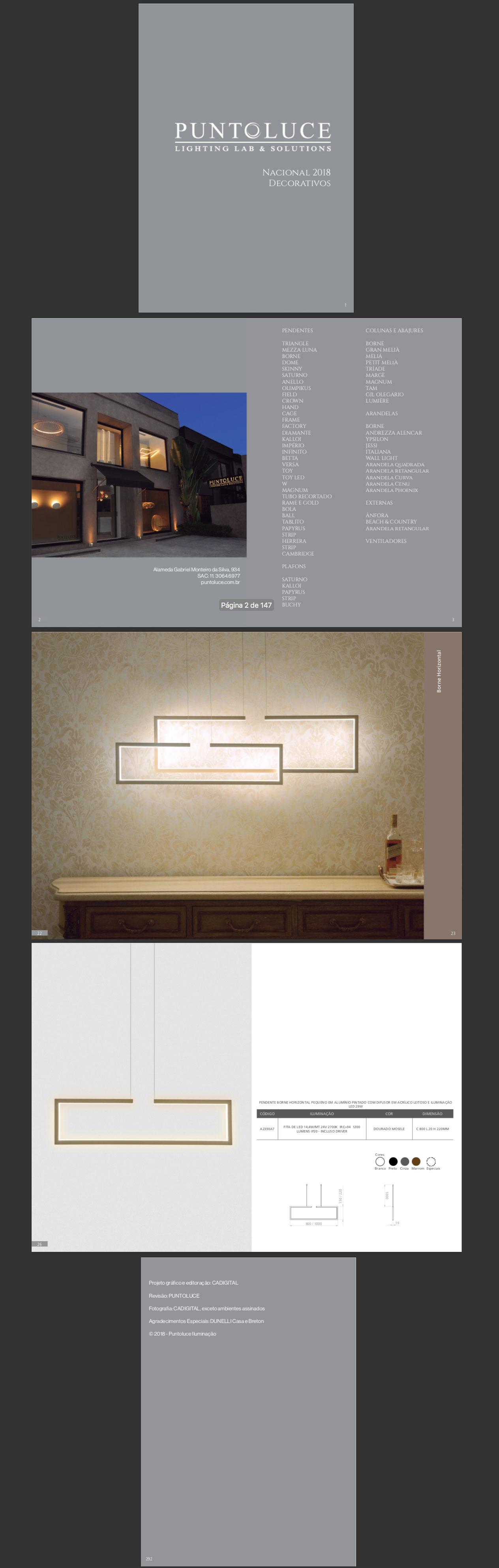 catálogo digital puntoluce iluminação 2018 trabalho cadigital
