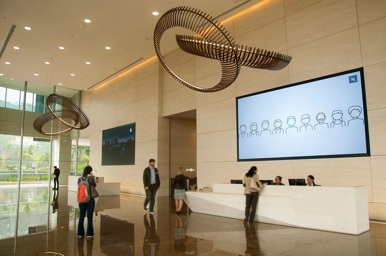 fotografia cadigital para fotografia do lobby da Torre Sigma Brookfield.