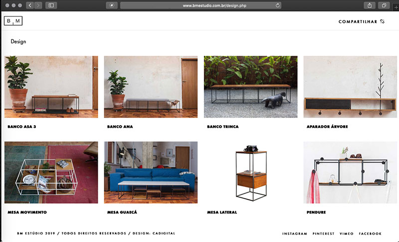 site bm studio design e programação CADIGITAL